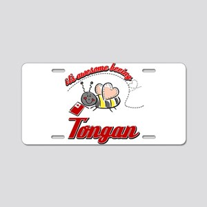 Awesome Being Tongan Aluminum License Plate