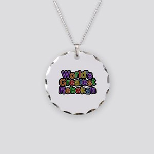 World's Greatest Rebekah Necklace Circle Charm