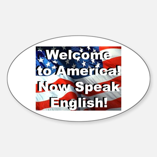 Welcome to America Oval Decal