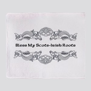"""Bless My Scots-Irish Roots"" Throw Blanket"