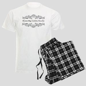 """Bless My Celtic Roots"" Men's Light Pajamas"