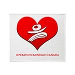 Operation Rainbow Canada Throw Blanket