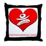 Operation Rainbow Canada Throw Pillow