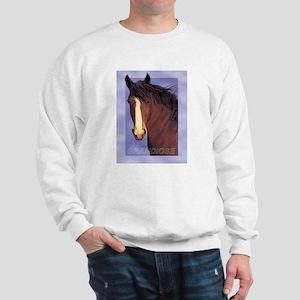 Draft Horse Painting with wind blown mane Sweatshi