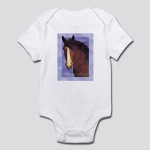 Draft Horse Painting with wind blown mane Infant C