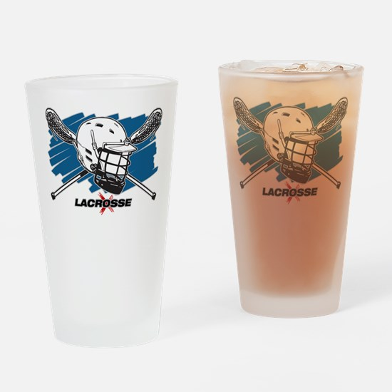 Lacrosse Attitude Drinking Glass
