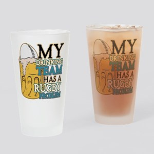 Rugby Drinking Team Pint Glass