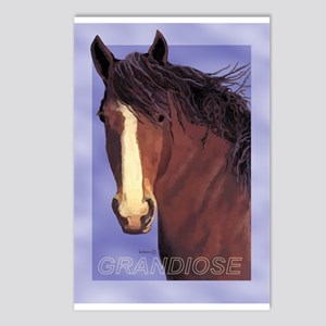 Draft Horse Painting with wind blown mane Postcard