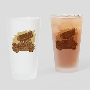 Spint Car Dirt Pint Glass