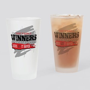 Winners and Losers Softball Drinking Glass