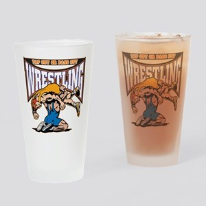 Tap Out or Pass Out Wrestling Drinking Glass