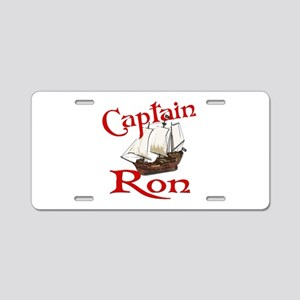 Captain Ron Aluminum License Plate