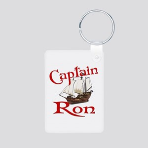 Captain Ron Aluminum Photo Keychain