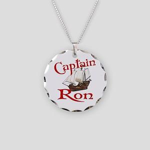 Captain Ron Necklace Circle Charm