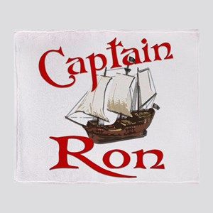 Captain Ron Throw Blanket