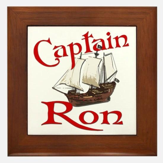 Captain Ron Framed Tile