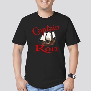 Captain Ron Men's Fitted T-Shirt (dark)