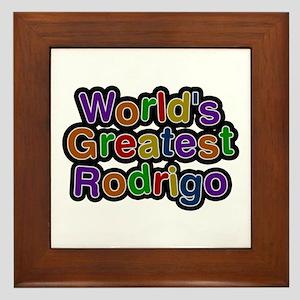 World's Greatest Rodrigo Framed Tile