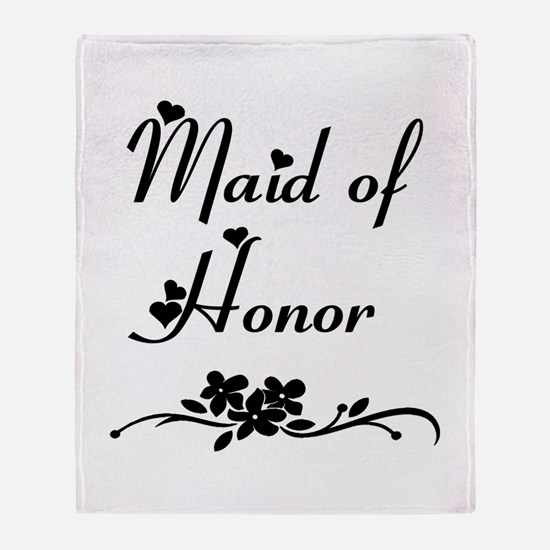 Classic Maid of Honor Throw Blanket