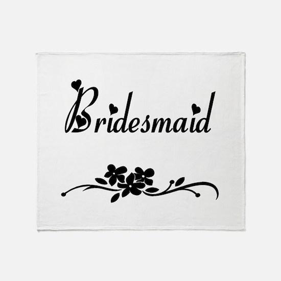 Classic Bridesmaid Throw Blanket