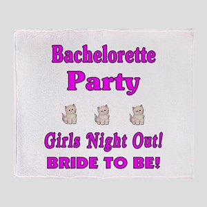 Bachelorette Girls Night Out Throw Blanket