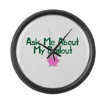 Bailout Jokes 1 Large Wall Clock