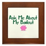 Bailout Jokes 1 Framed Tile