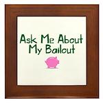 Bailout Jokes 1 Framed Tile