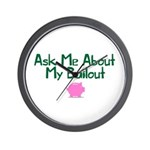 Bailout Jokes 1 Wall Clock