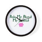 Bailout Jokes 1 Wall Clock