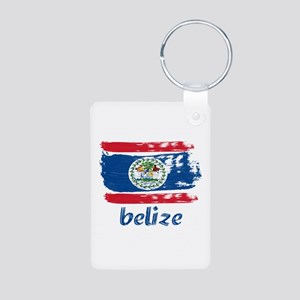 Belize Aluminum Photo Keychain