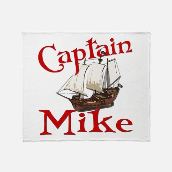 Captain Mike Throw Blanket
