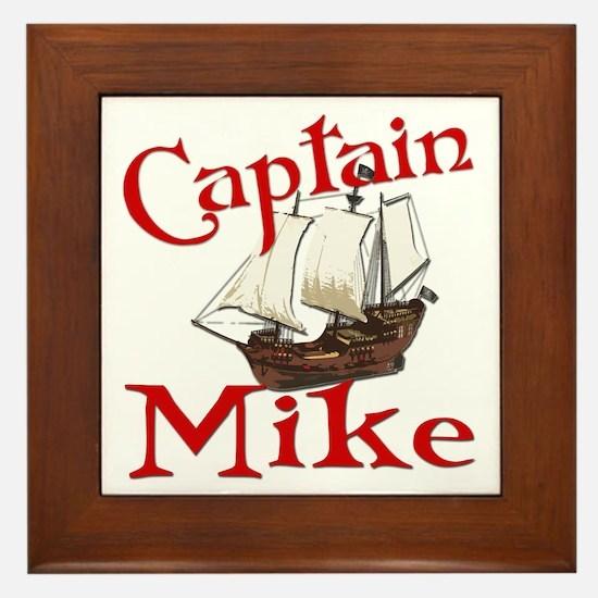 Captain Mike Framed Tile