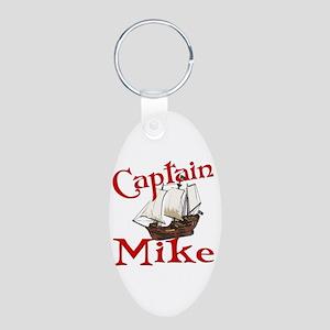 Captain Mike Aluminum Oval Keychain
