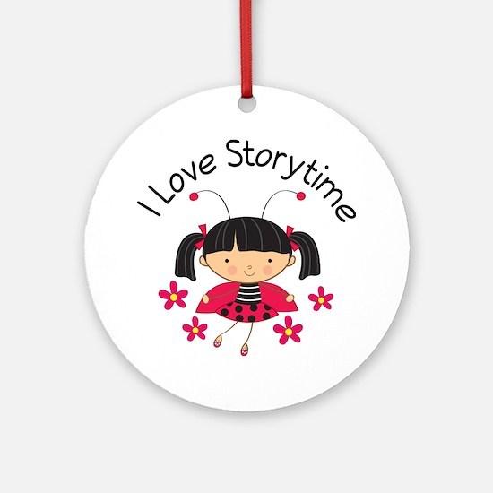 I Love Storytime Reading Ornament (Round)