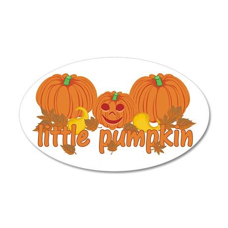 Little Pumpkin 35x21 Oval Wall Decal