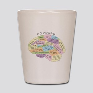 Quilter's Brain Shot Glass