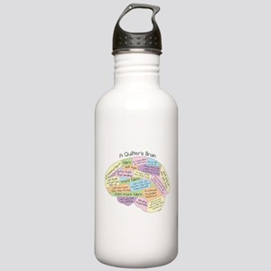 Quilter's Brain Stainless Water Bottle 1.0L