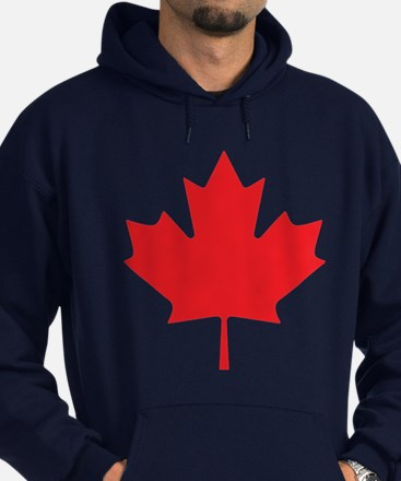 Canadian Maple Leaf Hoodie (dark)