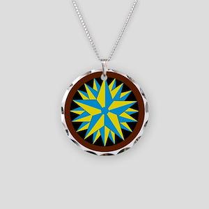 Penn-Dutch - Triple Star Hex Necklace Circle Charm