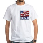 USA! White T-Shirt, Over the Heart