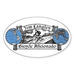 Jim Langley Bicycle Aficionado Sticker
