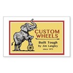 Jim Langley Custom Wheels Classic Logo Sticker