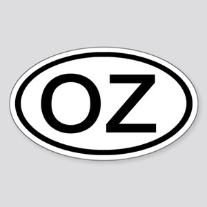 OZ - Initial Oval Oval Sticker