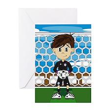 England Soccer Goalkeeper Greeting Card