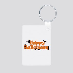 Happy Halloween Aluminum Photo Keychain