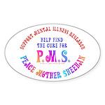 Anti-Cindy Sheehan Oval Sticker