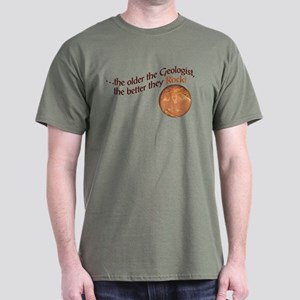 The older the Geologist... Dark T-Shirt