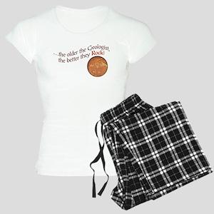 The older the Geologist... Women's Light Pajamas