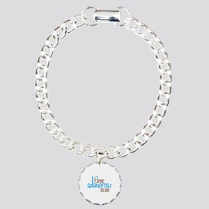 1st Time Grandmas Club (Blue) Charm Bracelet, One